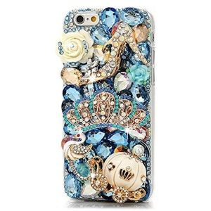 Cinderella inspired 3-D blinged our iPhone 6 case